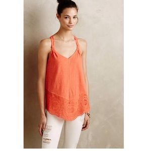 Anthropologie Meadow Rue Knotted Lace Tank